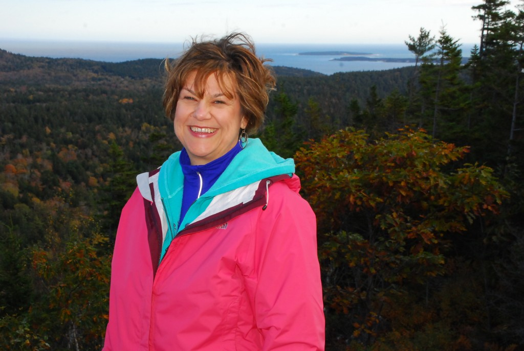 Celebrating -150 atop Penobscot Mountain, Lori Schaefer
