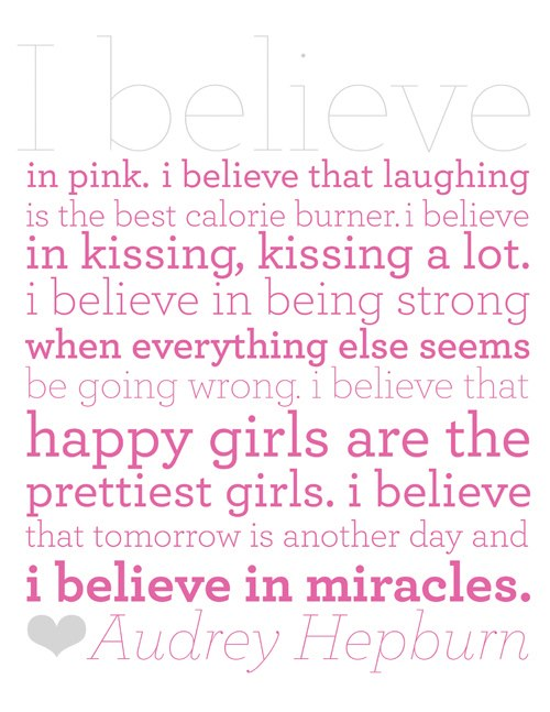 I believe in pink...