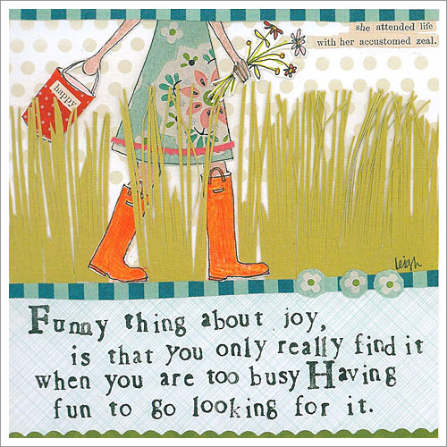 Funny thing about joy
