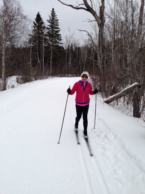 Lori's first ever XC ski