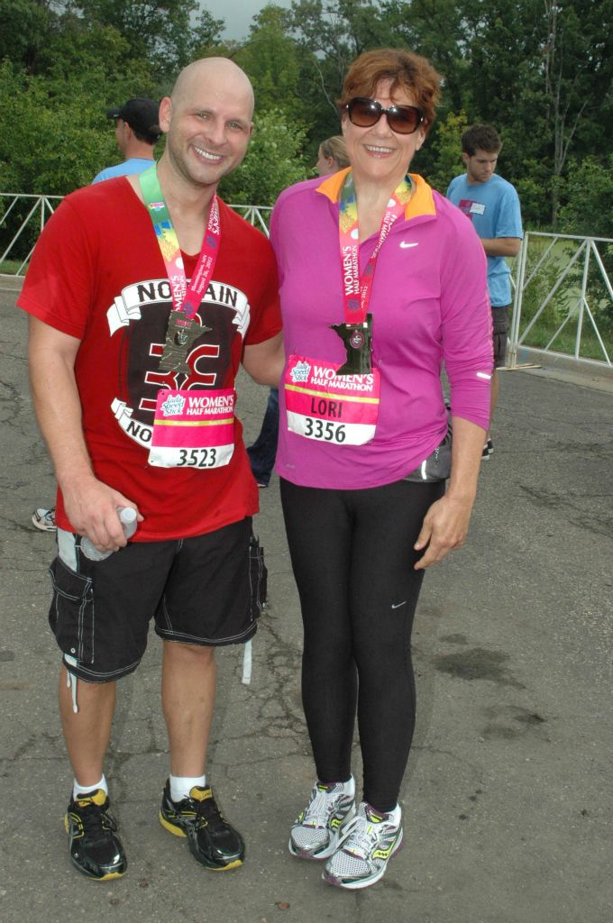 Lori & Leif, Women's Running Half Marathon - August 2012