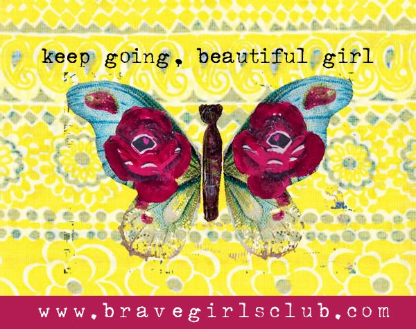 Keep going beautiful girl