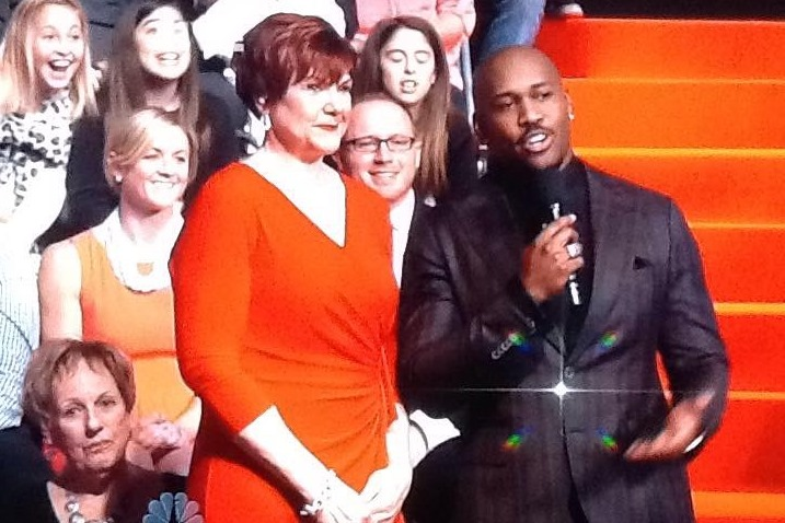 Lori Schaefer with Dolvett Quince on The Biggest Loser